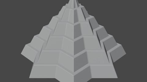 Pyramidal Structure 8 Corners Mayan Style