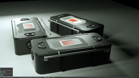 science fiction Bag container 3D model