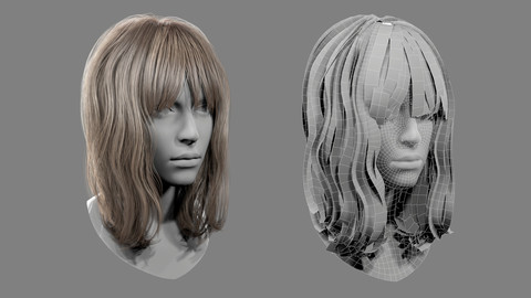 Realtime Medium Length Hairstyle