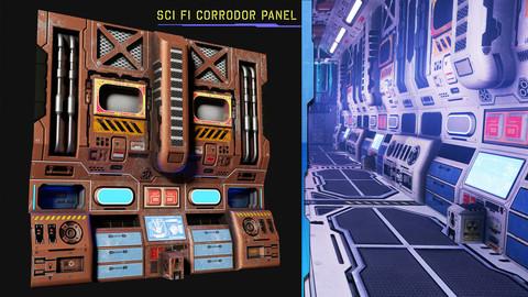 Sci Fi Corridor Panel