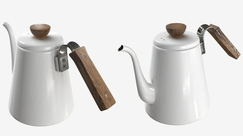 Low-poly PBR Tea/Coffee Drip Kettle - 001