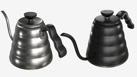 Low-poly PBR Tea/Coffee Drip Kettle - 002