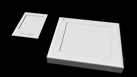 Sci-Fi Tablet Projector Gadgets untextured