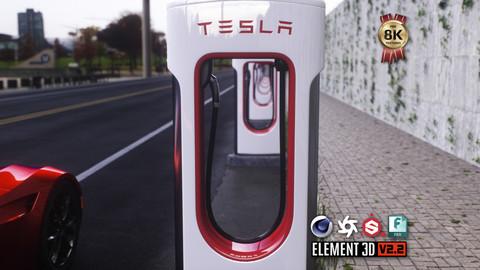 Tesla Supercharger 3D Model