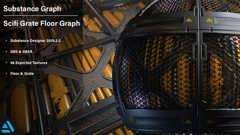 Artstation Learning | Scifi Floor I | Substance Graph