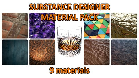 Substance Designer - Material Pack (9 materials)