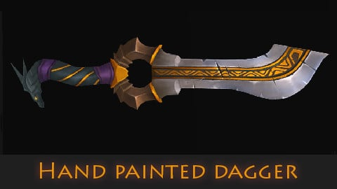 hand painted dagger