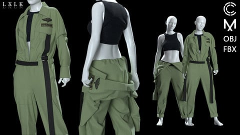 Women's US Army Worksuit - 3 version