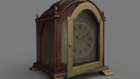 Low Poly Vintage Clock