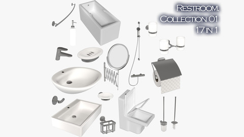 Restroom collection 01 - 17 in 1