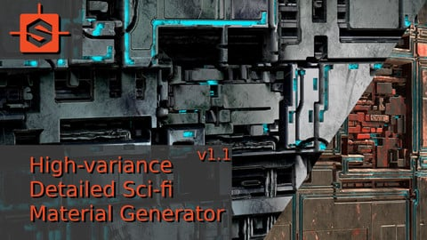 High-variance Detailed Sci-fi Material Generator