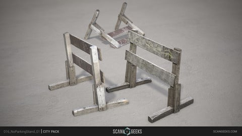 NoParkingStand_01 - Photogrammetry Asset 3D PhotoScan