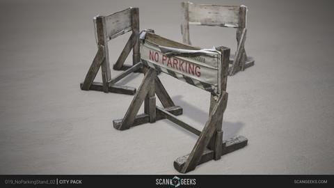 No Parking Stand 02 Photogrammetry Asset PhotoScan