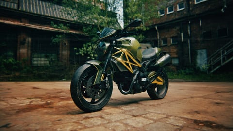 Ducati Monster Motorcycle PBR Gameready Realistic Low-poly 3D model