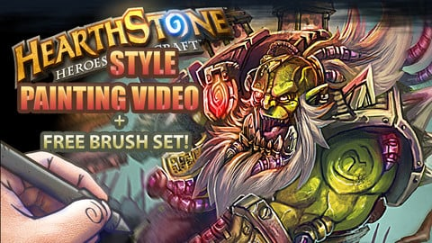 Hearthstone Style PAINTING!!! - Full video process + Brushes