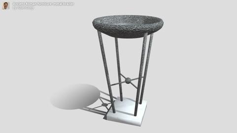 Ancient Roman furniture: metal brazier