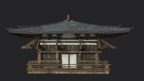 japanese house-PBR Low-poly 3D model