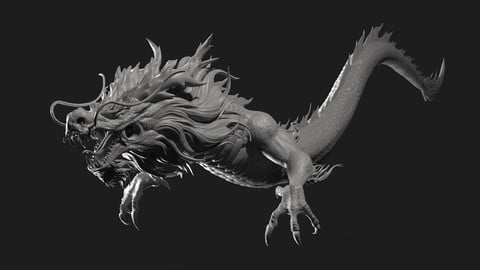 Chinese Dragon Zbrush Sculpt