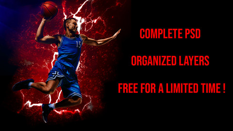 Basketball Player Complete Psd