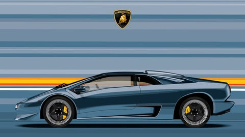 LAMBORGHINI DIABLO SV/Digital File Vector