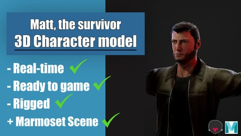 Matt, the survivor - 3D character for games - Game-Ready - Rigged