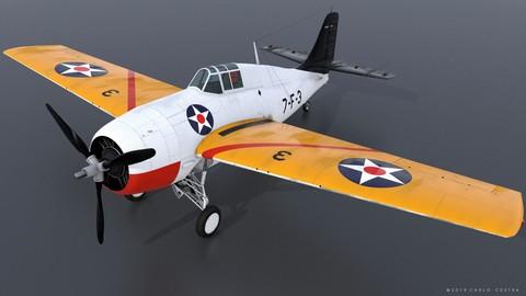 GRUMMAN F4F-3 WILDCAT VF7 - 7F3