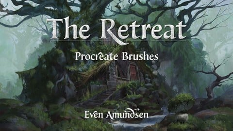 Procreate Brushset - TEGN: The Retreat, 7 brushes for environments