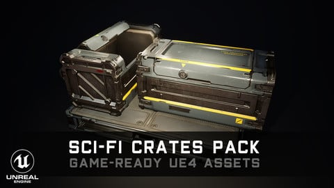 Sci-Fi Crates Pack - Game-Ready UE4 Assets
