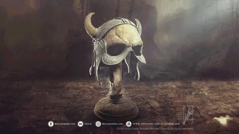 Celtic helmet 01 3D print model