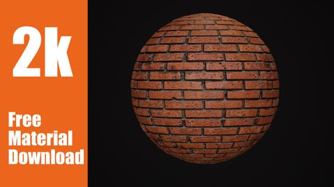 Brick Material - With 2K Textures