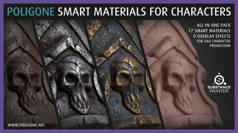 Poligone Smart Material Collection for AAA Character Creation