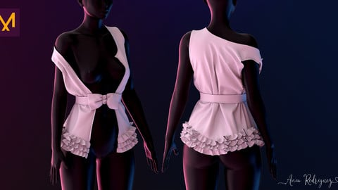Ruffle Jacket - Marvelous Designer - Commercial and Personal Use