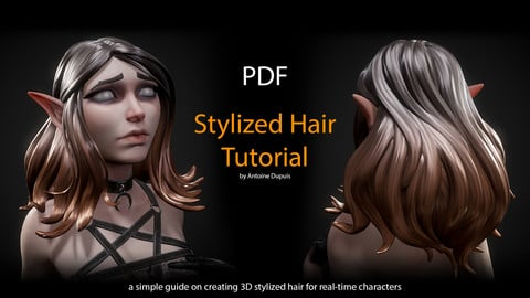 Stylized Hair Tutorial - PDF