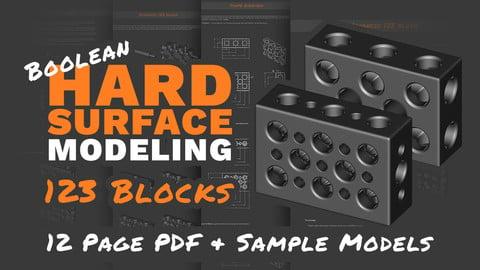 Boolean + Sub-D Hard Surface Modeling: 123 Blocks (Tutorial & Models)