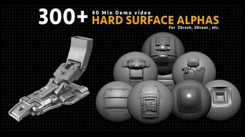 300+ Hard Surface Alphas / Demo Video