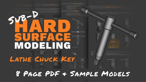 Sub-D Hard Surface Modeling: Lathe Chuck Key (Tutorial & Models)