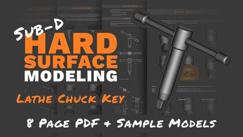 Sub-D Hard Surface Modeling: Lathe Chuck Key (Tutorial & Models)