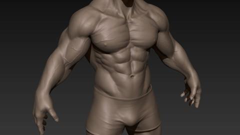 Huge Muscular Man Zbrush