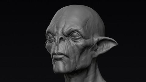 Alien Head Sculpt 01