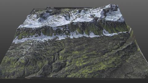 Snowy Terrain 8K Texture PBR