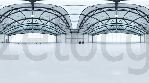 HDRI - Airplane Hangar Interior 7