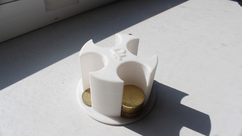 Coin Box for Russian Roubles Coins (3D Print)
