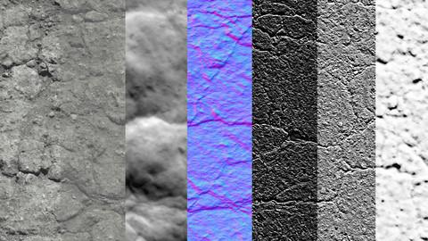 15 Various Concrete Floors Surfaces PBR Volume 1