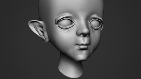 ZBrush Facial Features VDM Brush