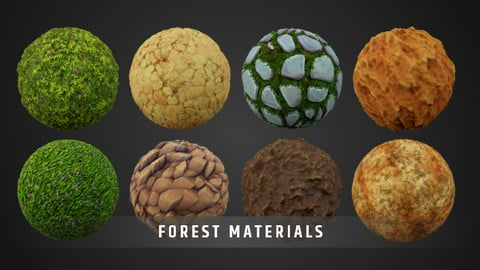 Stylized Fantasy Forest Material Pack