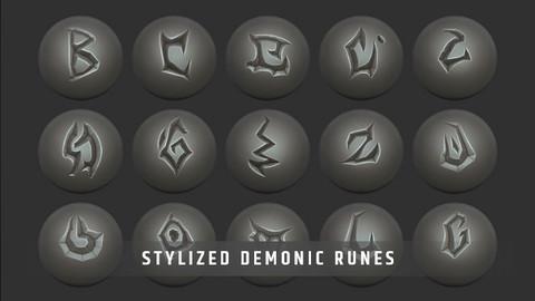Stylized Demonic Runes