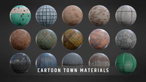 Cartoon Town Materials Pack