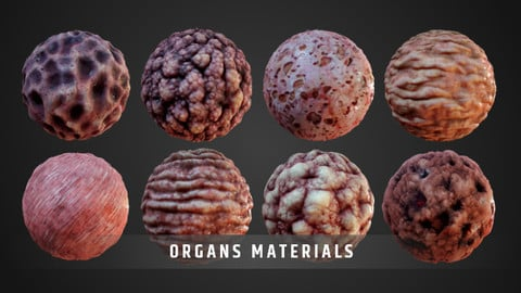 Stylized Organs Material Pack