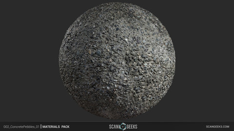 Concrete Pebbles 01 - Photogrammetry PhotoScan