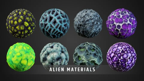 Stylized Alien Material Pack